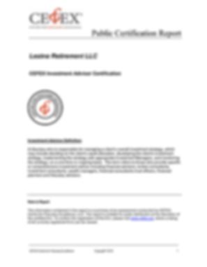 CEFEX Public Certification Report
