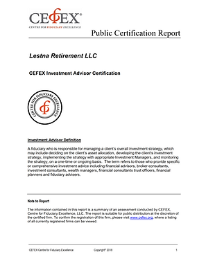 CEFEX Public Certification Report