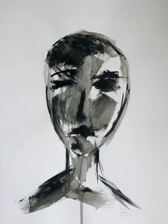 Human, Acrylic on Paper, 29.7x42 cm