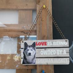 Siberian husky wooden sign £7
