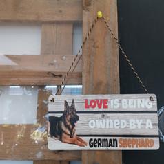 German Shepherd wooden sign £7