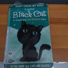 black cat metal sign £4