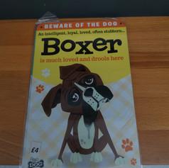 Boxer metal sign £4