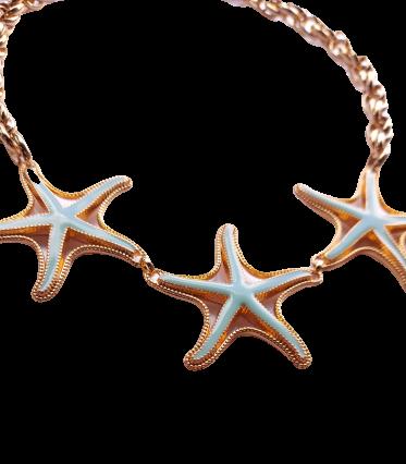 Colar Estrela do Mar Verde Água