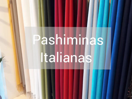 Pashiminas Italianas, caimento perfeito e durabilidade facilitam o uso em diversas ocasiões