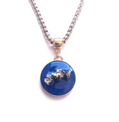 Colar Araucária Azul Royal