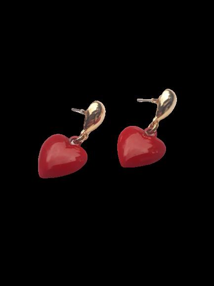 Brinco Coração Vermelho