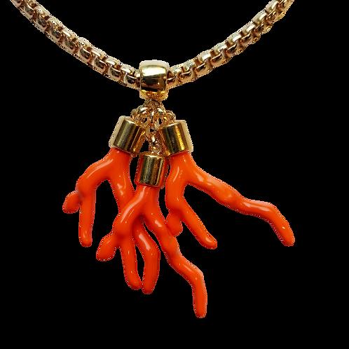Colar Coral Laranja