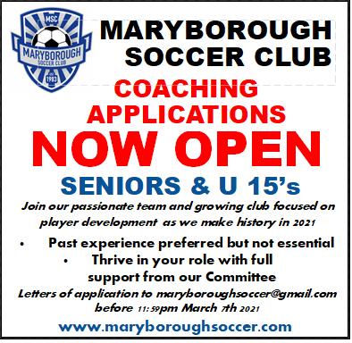 Coaching Applications Open Now