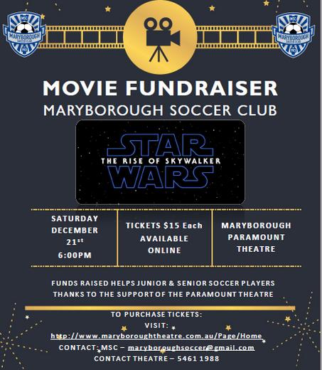 STAR WARS Movie Fundraiser - December 21st 6:00pm