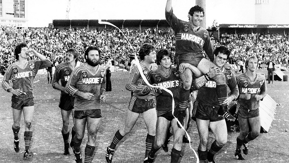 Premierships in 82 and 83- Neil Cadigan