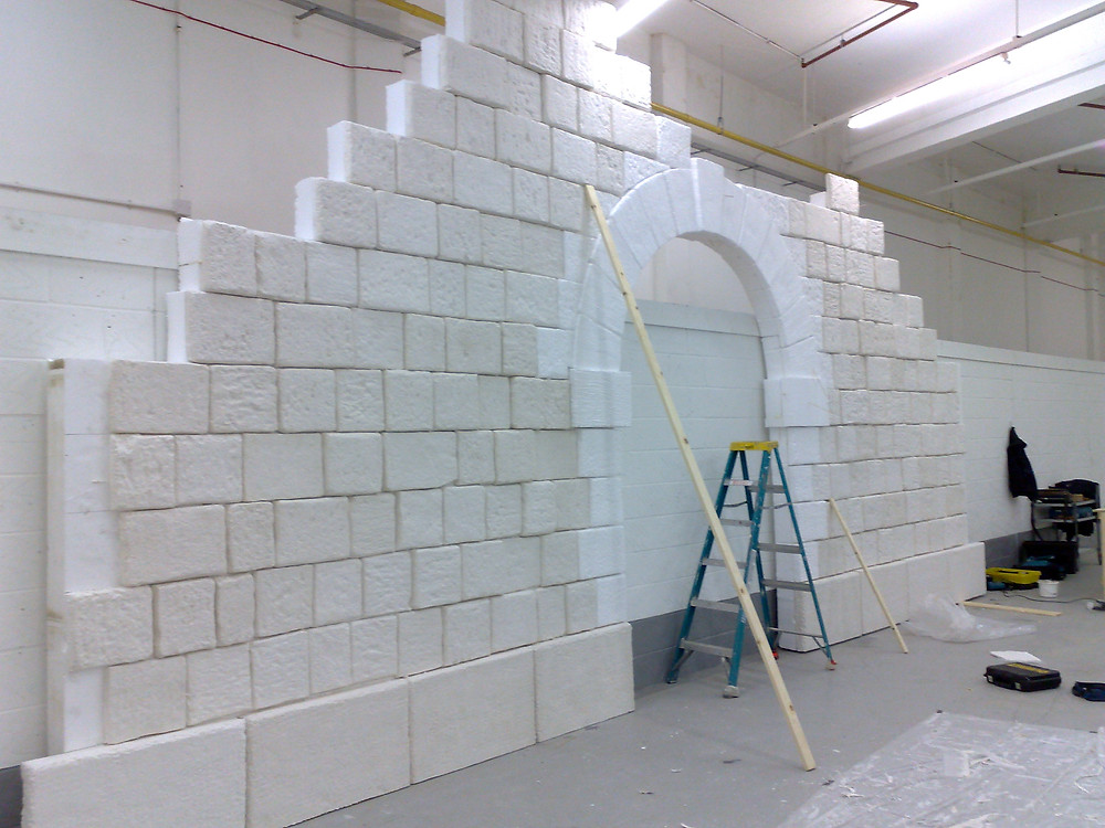 The Poly and plaster detail was constructed at our studios in Gloucestershire and  shipped out to the Cumbrian hinterland.