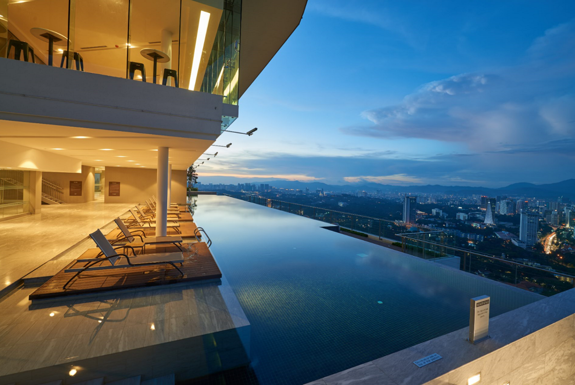 Evening Pool View At Level 55