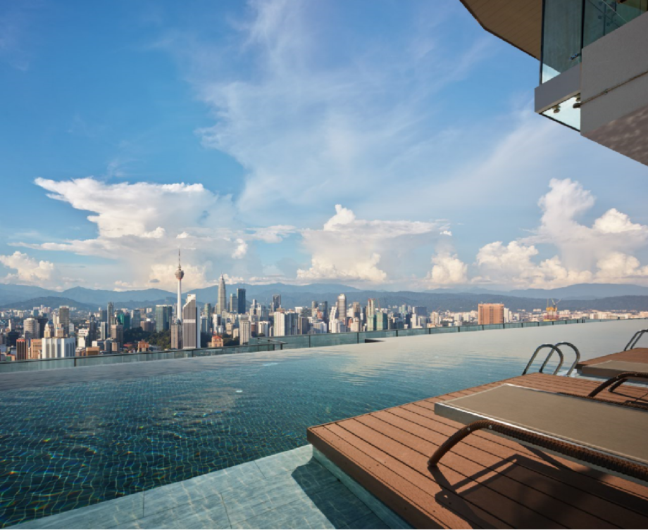 Infinity Sky Pool at Level 55