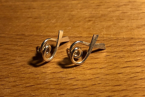 Pink Cereus Stud Ear Rings