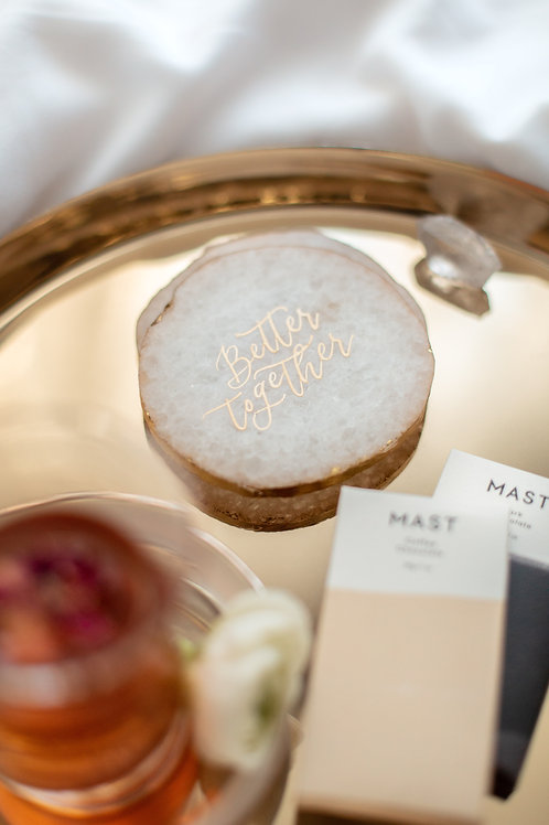 Personalized Agate Coasters