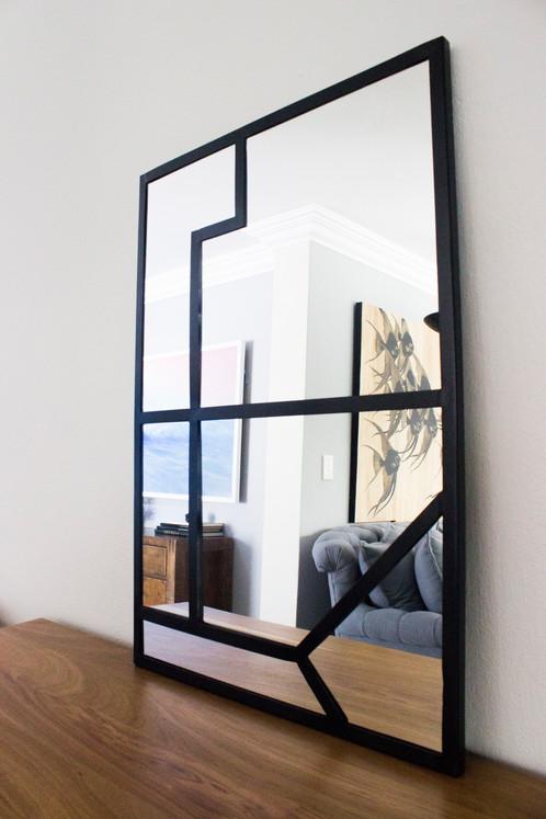 Ziyanda: Steel frame mirror