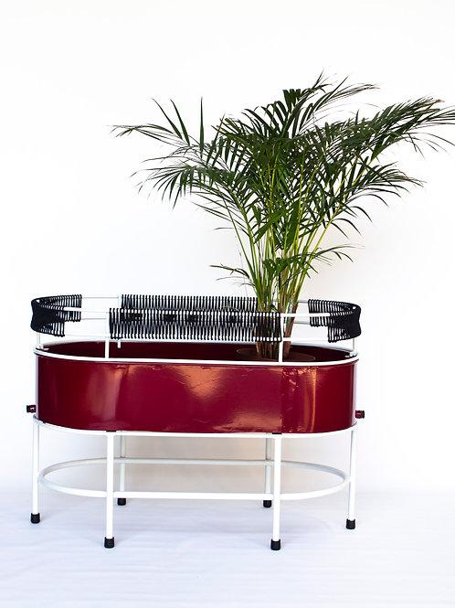 Mangbetu Oval Pot and Stand