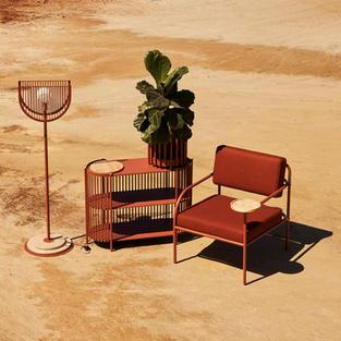 Mudziira Floor Lamp, Dehinineti Drinks console, Amani Large Planter & Akaya Lounge Chair