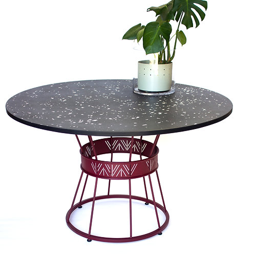 Dondo Table: Timber + Steel frame
