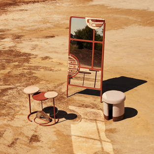 Faraji Mirror, Muk'eti nesting tables & Isinmi ottoman