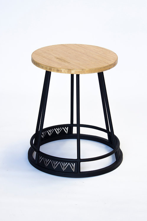Dondo stool: Timber + Steel frame