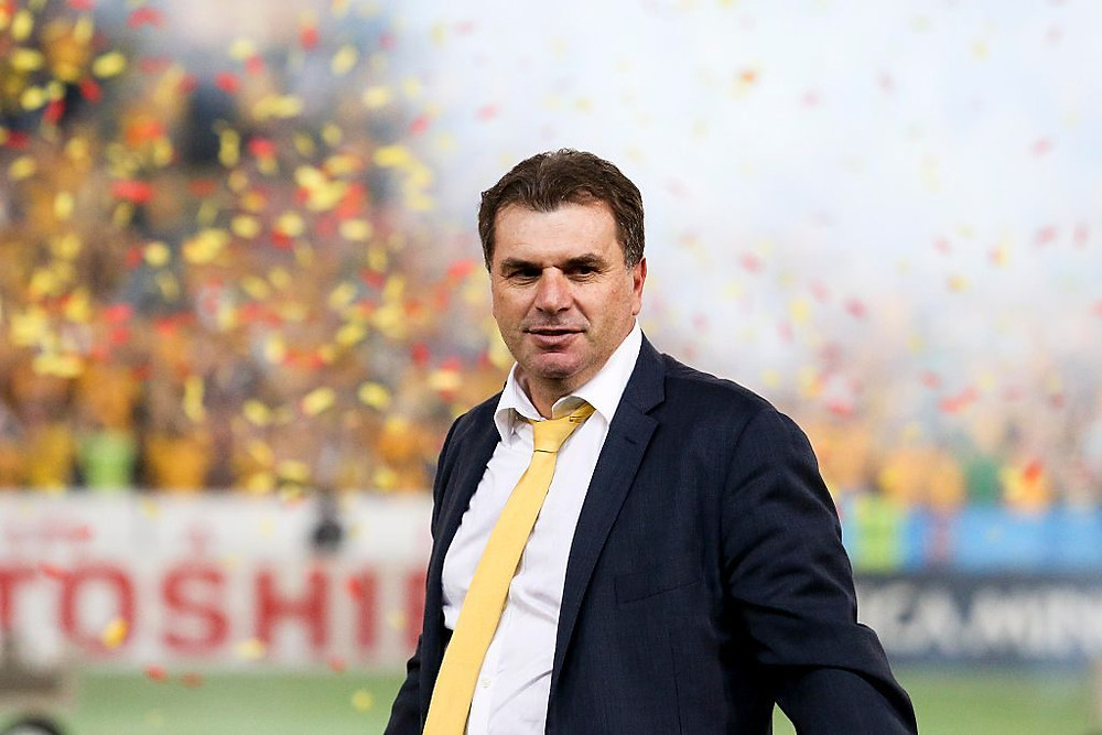 Ange Postecoglou after the 2015 Asian Cup win
