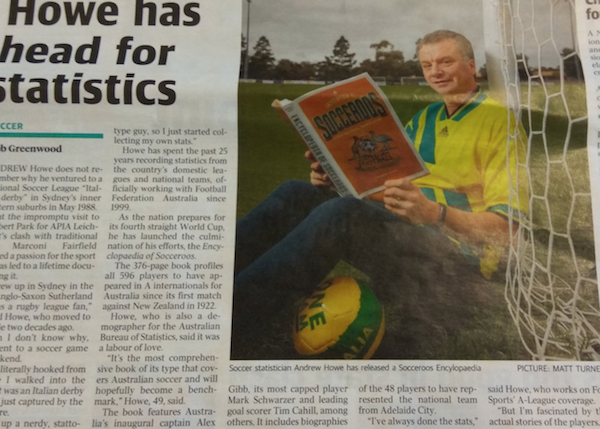 Andrew Howe featured in The Advertiser