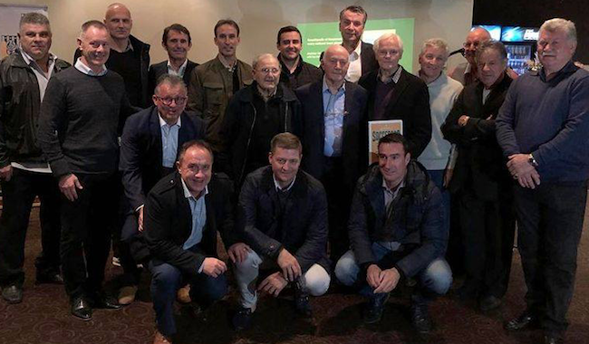 17 Socceroos at the Adelaide launch at Adelaide City