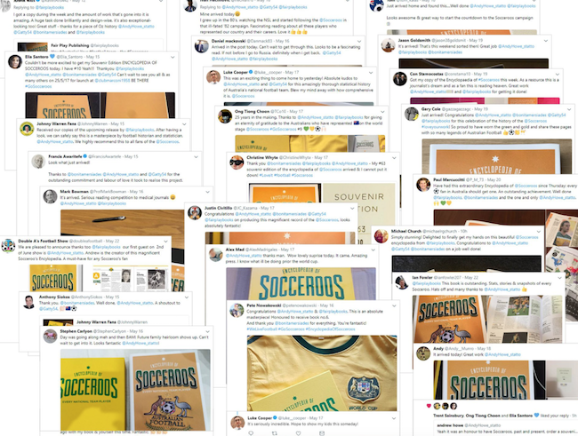 Some of the tweets when the Encyclopedia was launched!