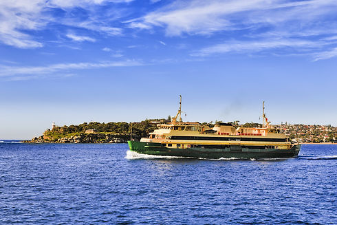 Passenger ferry in the middle of Sydney