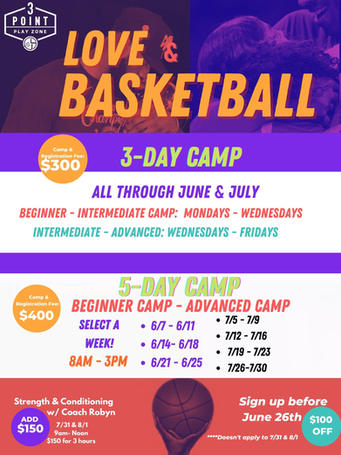 Love & Basketball Summer Camps 2021