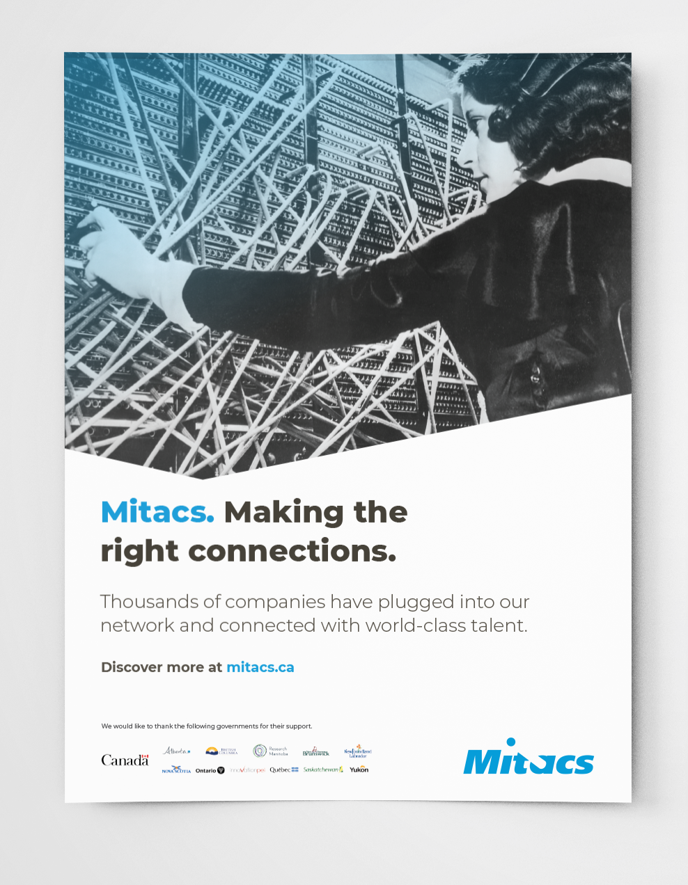 Mitacs Ad for The Hill Times