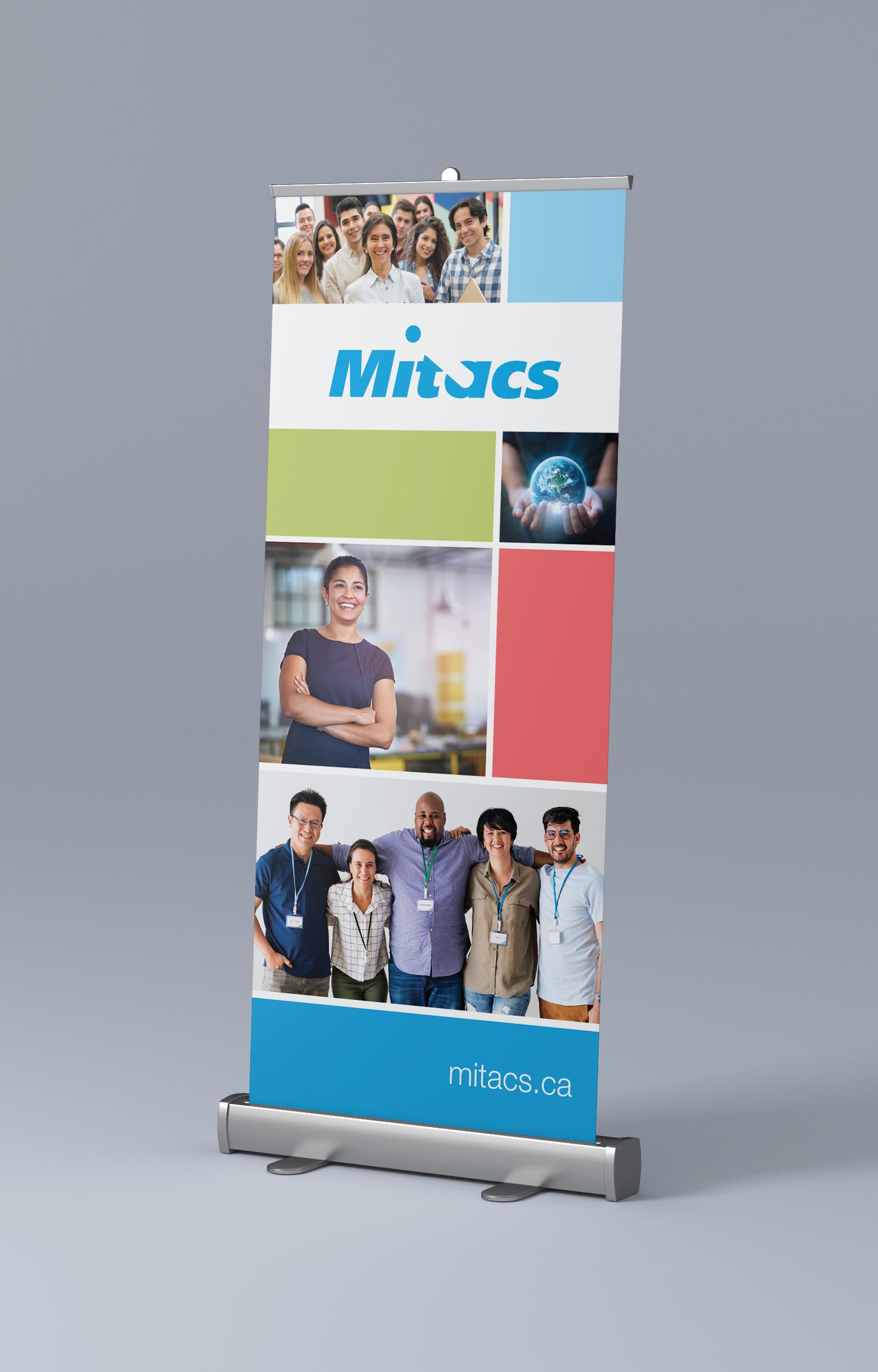 Bannière conçue pour Mitacs