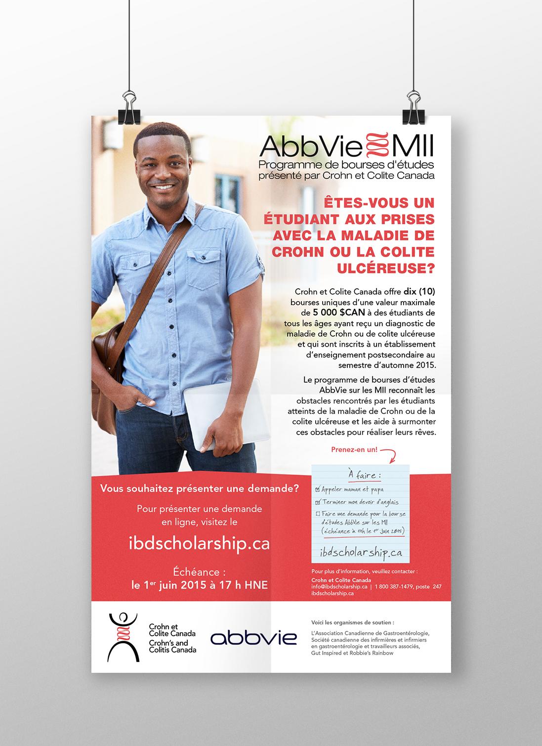 Affiche pour Crohn et Colite Canada