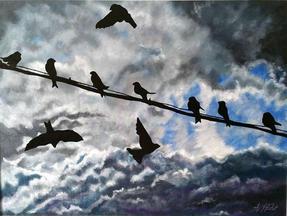 Birds on a Wire by Alana Holst