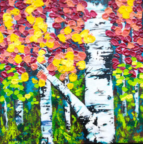 Falling on Birch Trees by Alana Holst