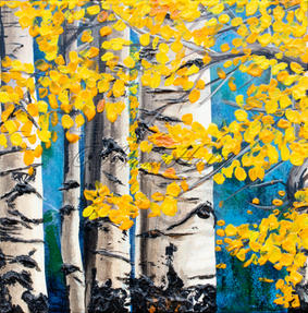 Autumn in the Aspens by Alana Holst