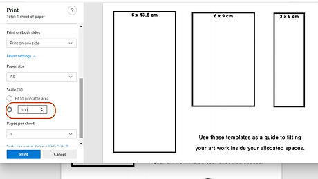 Template - how to print