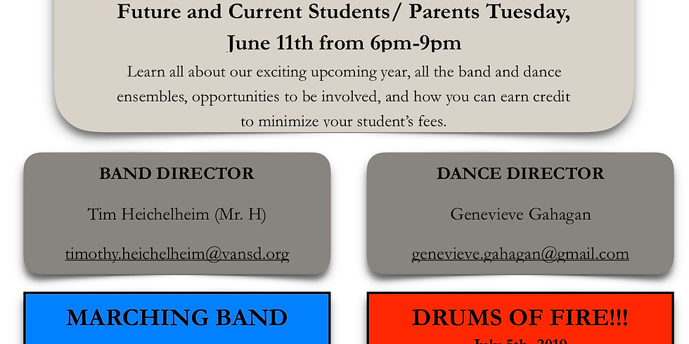 SVBD Mandatory Meeting for Future and Current Students/ Parents