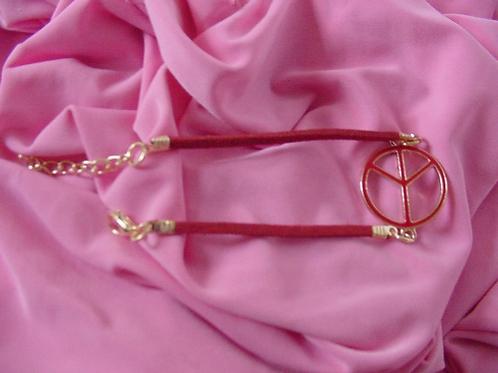 Peace bracelet Red
