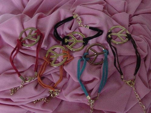 Peace bracelet Purple