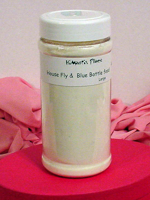 Large - House & blue bottle fly food 16 oz