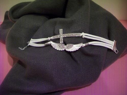 Cross and Wings Bracelet