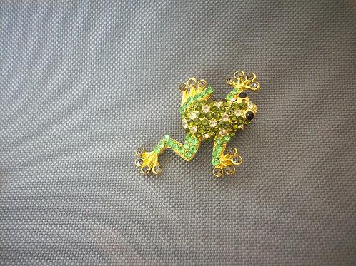 Frog broach green