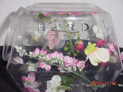 1-Set up name letters & flowers on containers