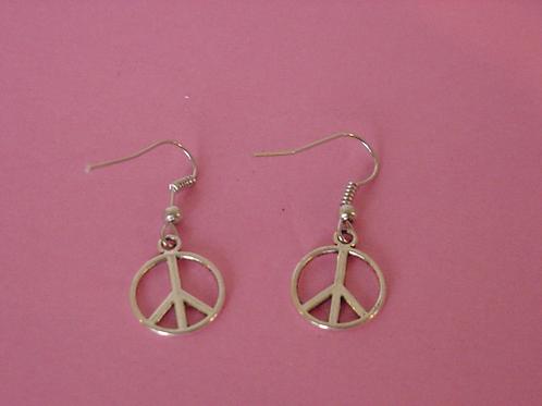 Peace Earrings hollow