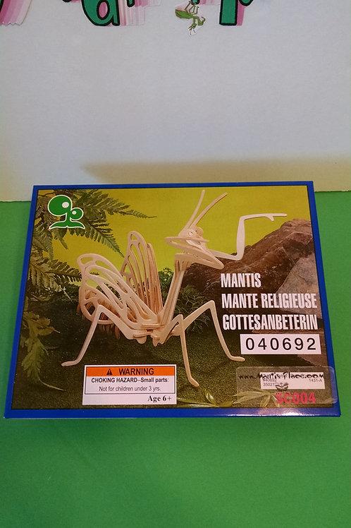 Praying mantis wood puzzle