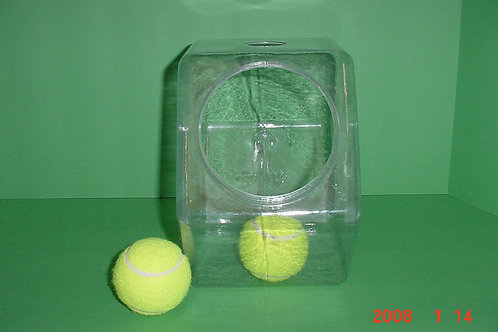 "1- Medium 4.5"" mesh lid vented hex container"