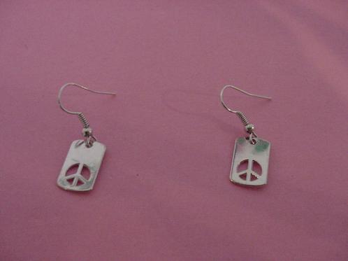 Peace Earrings retangle